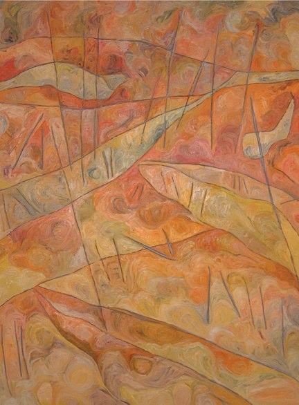 """My Memory-Barely Faithful    ,  2006   oil on canvas   74  1/4  """" x 56  1/2  """""""