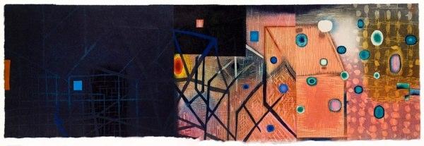 """Tar and Sugar    ,  2009   woodcut (2/6)   17  1/4  """" x 41"""""""
