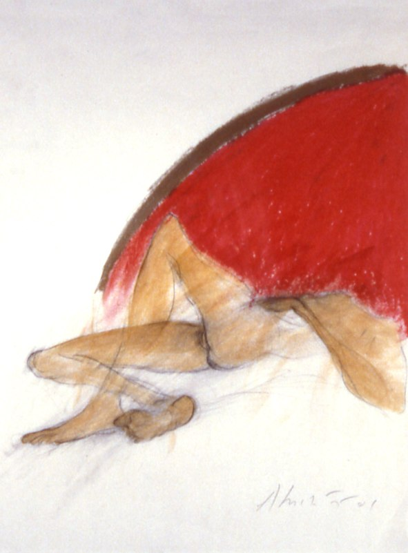 """Metamorphosis of the Sun    ,  2001   charcoal, oil stick, and shellac on paper   31  1/4  """" x 25  1/4  """""""