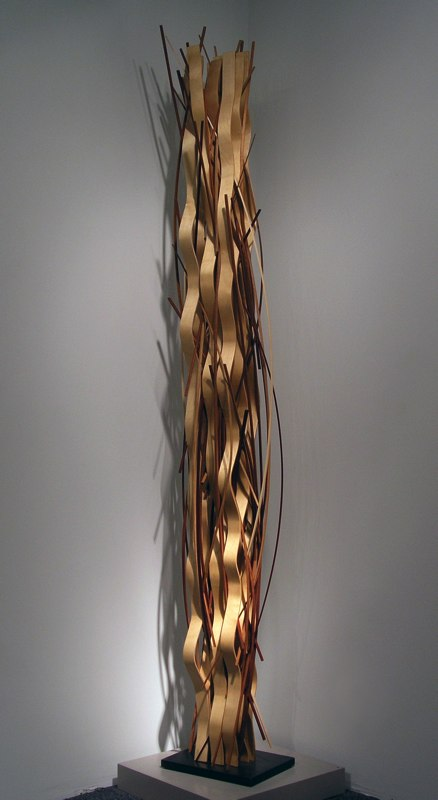 "Ribbon Waveform II   , 2005   various woods   95  3/4  "" x 15"" x 11"""