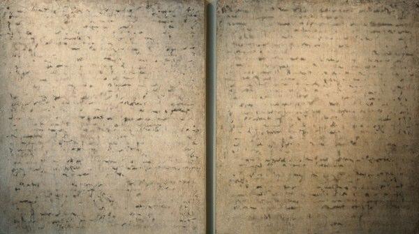 """The Promise   , 2000   terrazzo on panel  48"""" x 83"""""""
