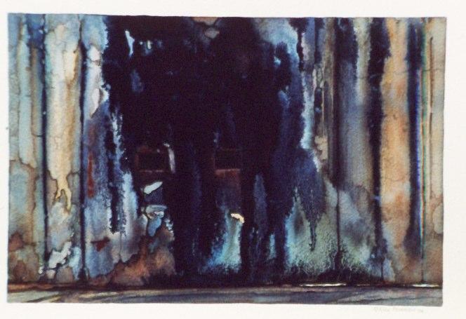 "Nara    ,  1994   watercolor  15"" x 18"""