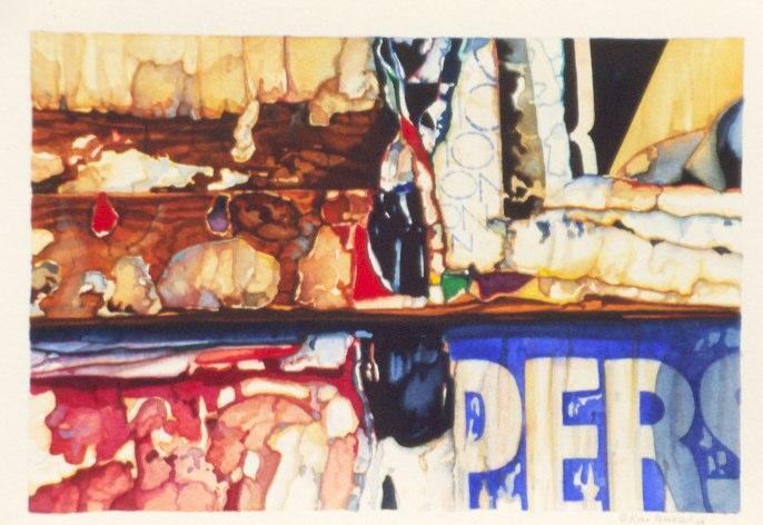 "Per   , 1994   watercolor  15"" x 18"""