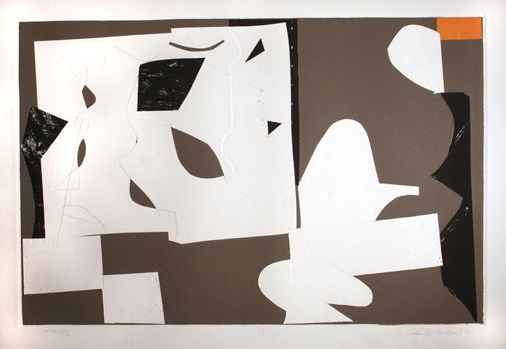 "MT #43 ,    2011   monoprint  21"" x 29"""