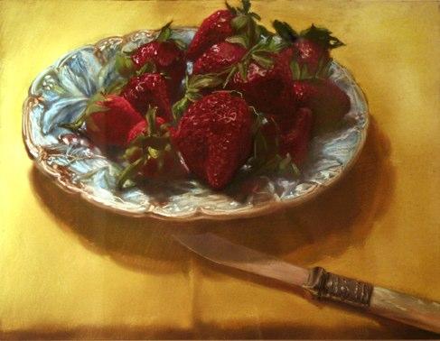 """Sweet Spring""    ,  2009   pastel on paper   22  1/2  "" x 28  1/2  """