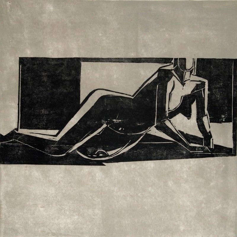 """Japonaise I    ,  2009   woodcut (1/5)   32"""" x 21  1/2  """""""