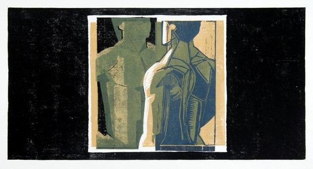 "Metope   , 2009   woodcut (1/5)   22"" x 26  1/2  """
