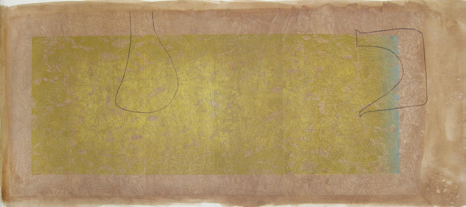 """""""Persian with Drawings,"""" 2013, 1/1A  woodcut print on Japanese paper with Walnut  72 1/2"""" x 28"""""""