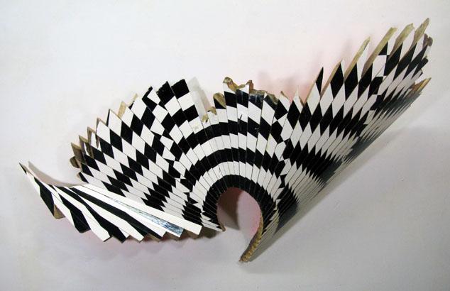 "New Venture Piece #30  , 2012  enamel on hard maple  36"" x 67"" x 11 3/4"""