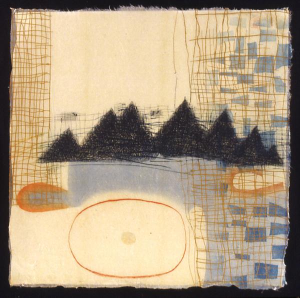 """Karen Kunc    Mirror Lake  , 2004  etching and woodcut, 7/9  21 3/4"""" x 21 3/4"""""""