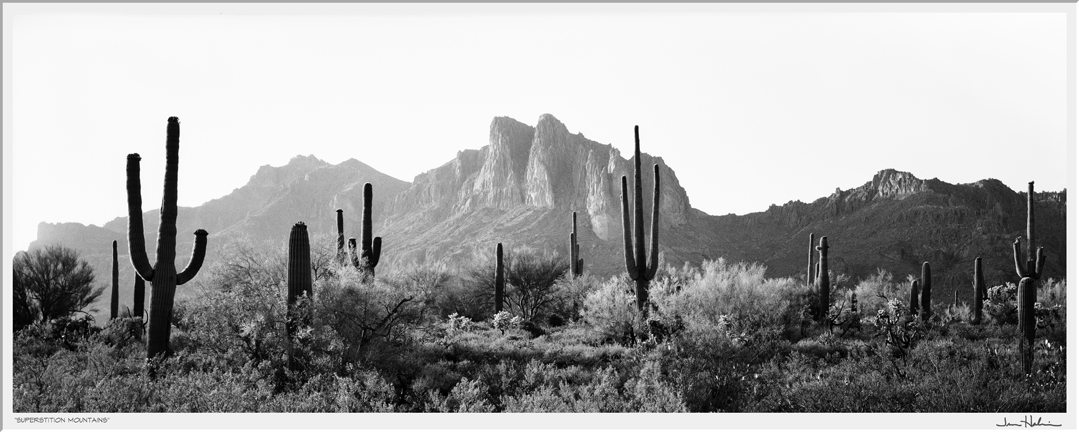 """""""Superstition Mountains,"""" 1988  black and white photograph, print #29  31 1/8"""" x 41 1/4"""""""