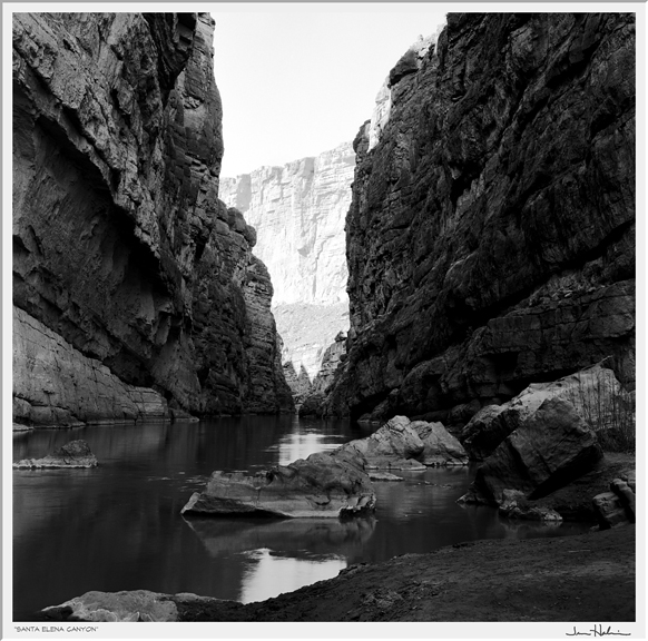 """Santa Elena Canyon,"" 2007  black and white photograph, print #1  25 1/8"" x 25 1/8"""