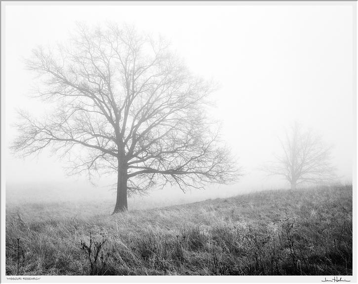 """Missouri Research,"" 1995  black and white photograph, print #2  25 1/8"" x 29 1/8"""