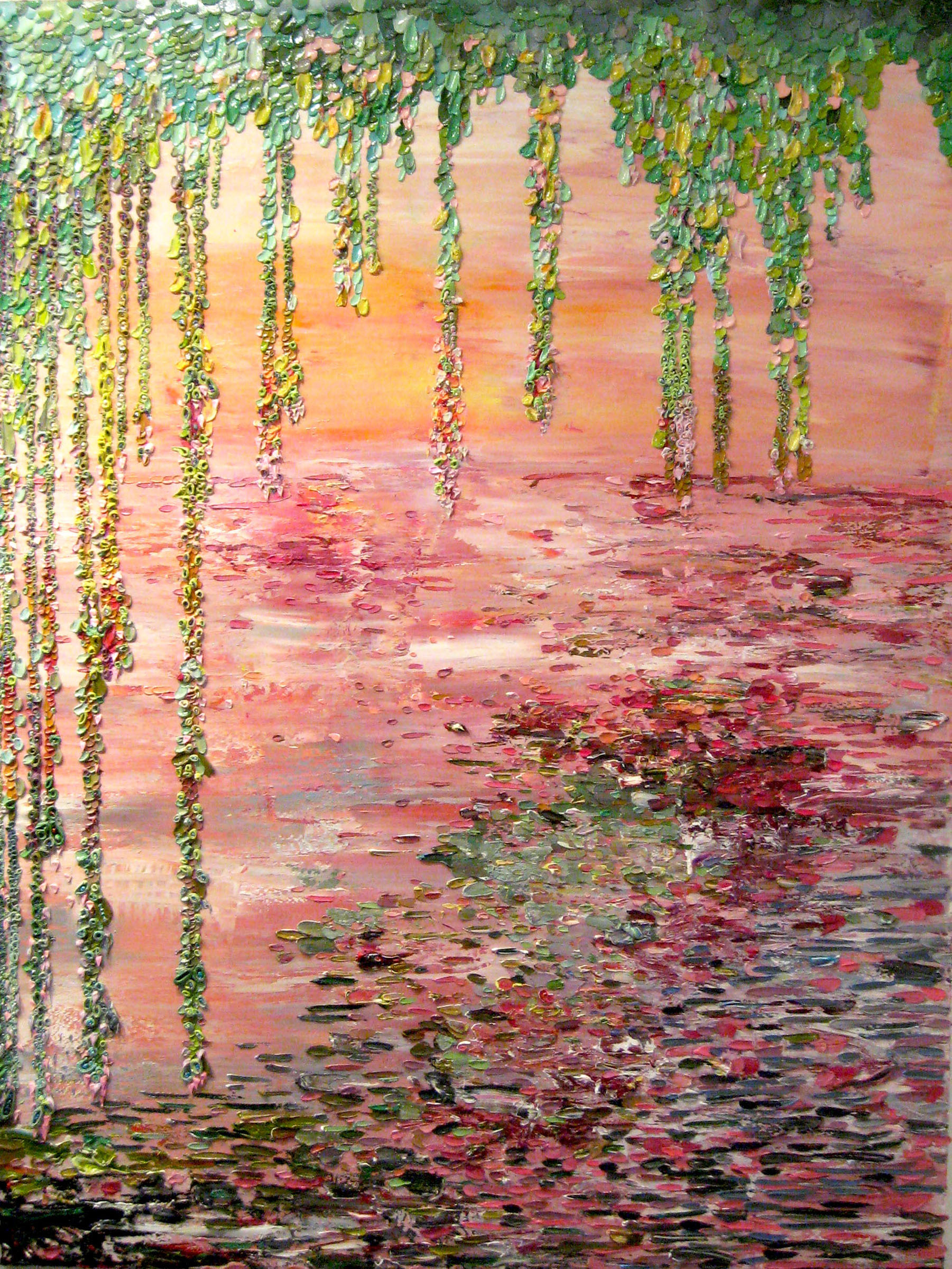 "Julia Fernandez-Pol, ""Weeping Willows,"" 2009  oil on canvas  72"" x 54"""