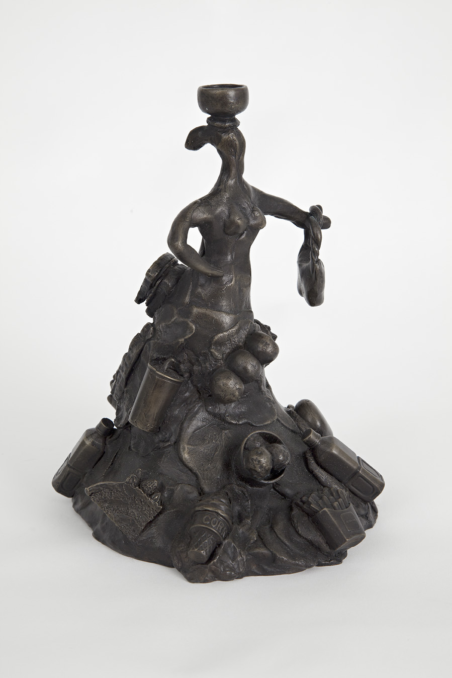 "Claudia DeMonte, ""Abundance: Food,"" 2011  bronze, ed. of 3  8 1/2"" x 6"" x 7"""