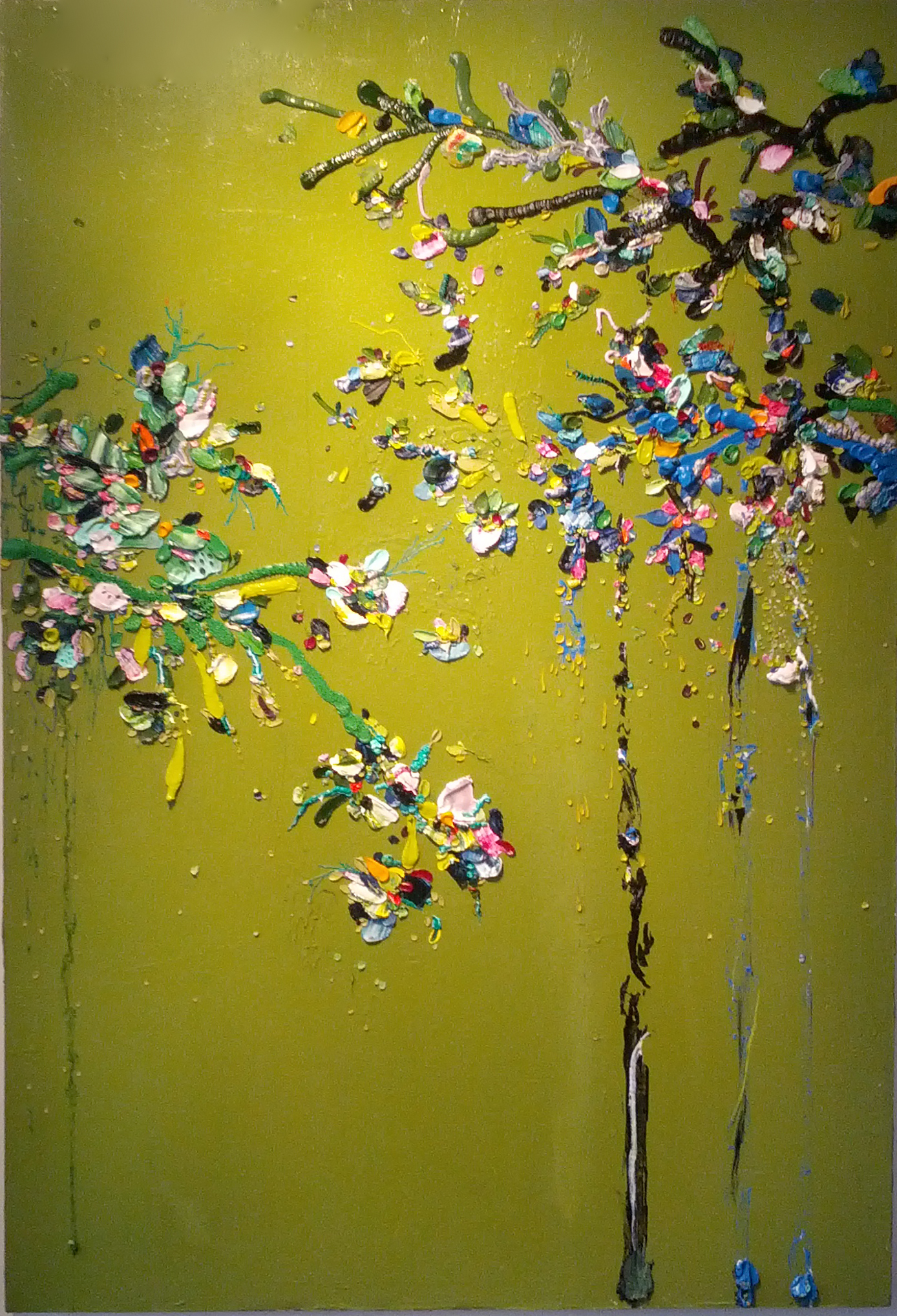 "Julia Fernandez-Pol, ""Spring Blossom Knots,"" 2012  oil on canvas  72 1/2"" x 46 1/2"""