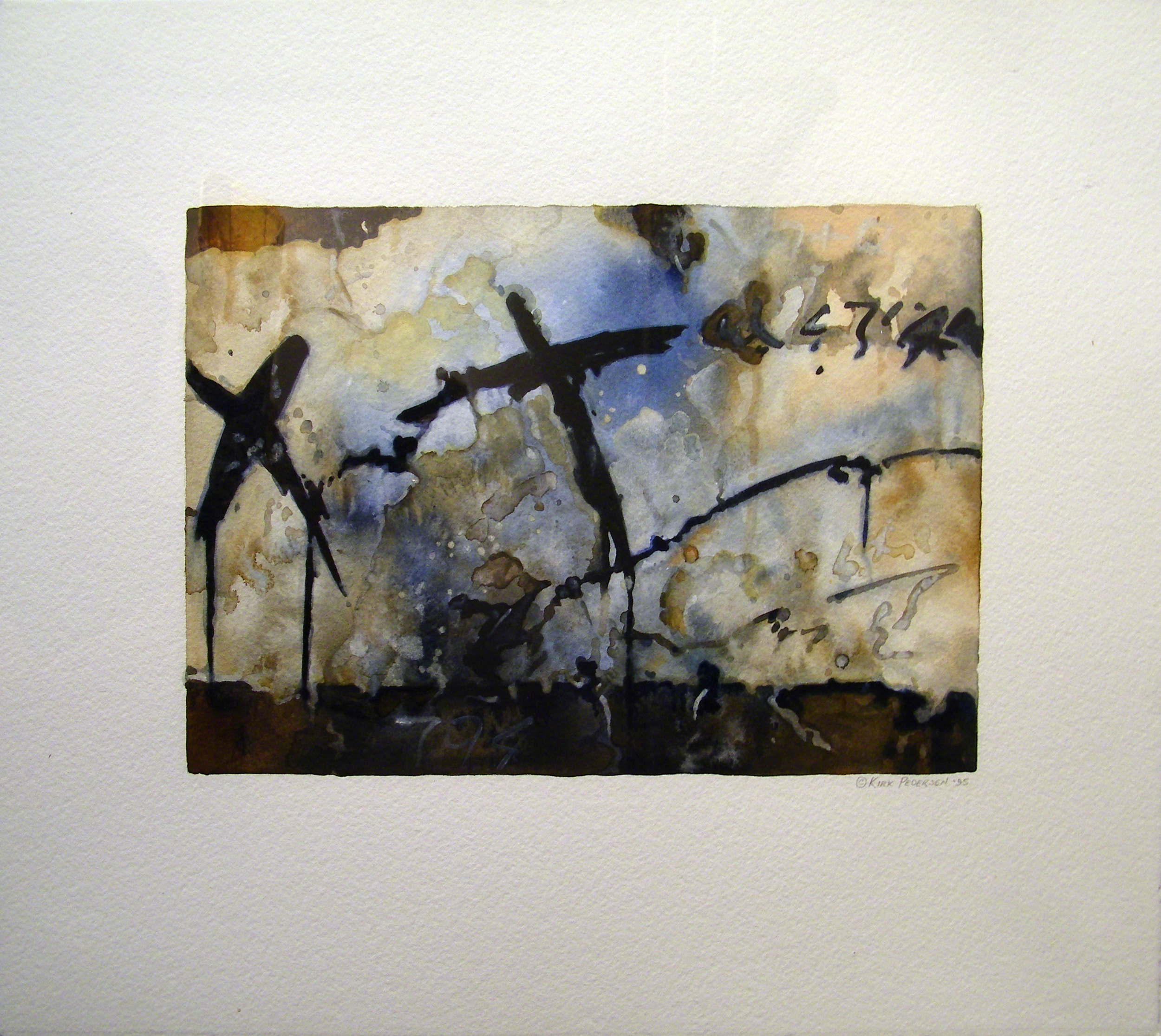 "Kirk Pedersen, ""794,"" 1995  watercolor  16 1/4"" x 20 1/4"""