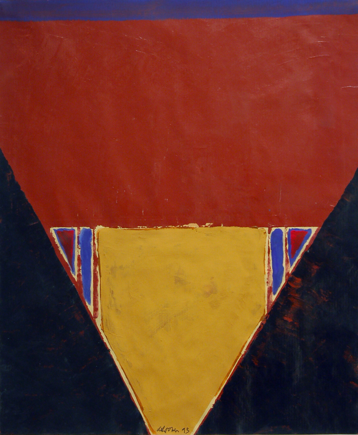 "Willem De Looper, ""Untitled 1993,"" 1993  acrylic on paper  22 5/8"" x 19 3/4"""