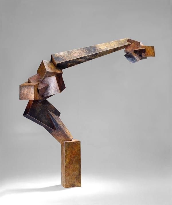 """Foray  , 1993  cast bronze, 4/9  31"""" x 29"""" x 8"""""""