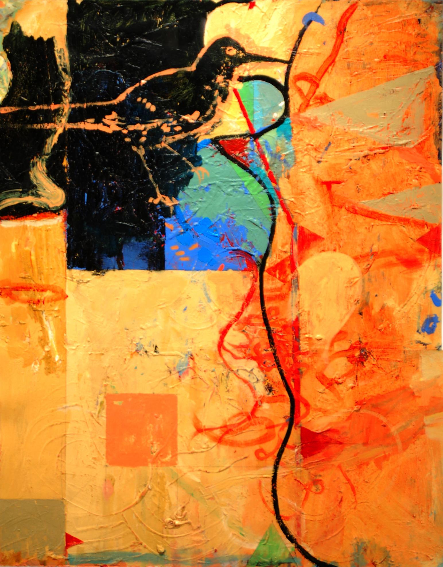 """Glenwood  , 2007  acrylic on paper  42"""" x 34"""""""