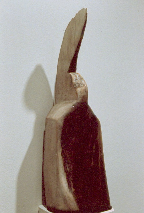 "Sister Ann   , 1995   wood and mixed media   18   3/4  "" x 4"" x 5"""