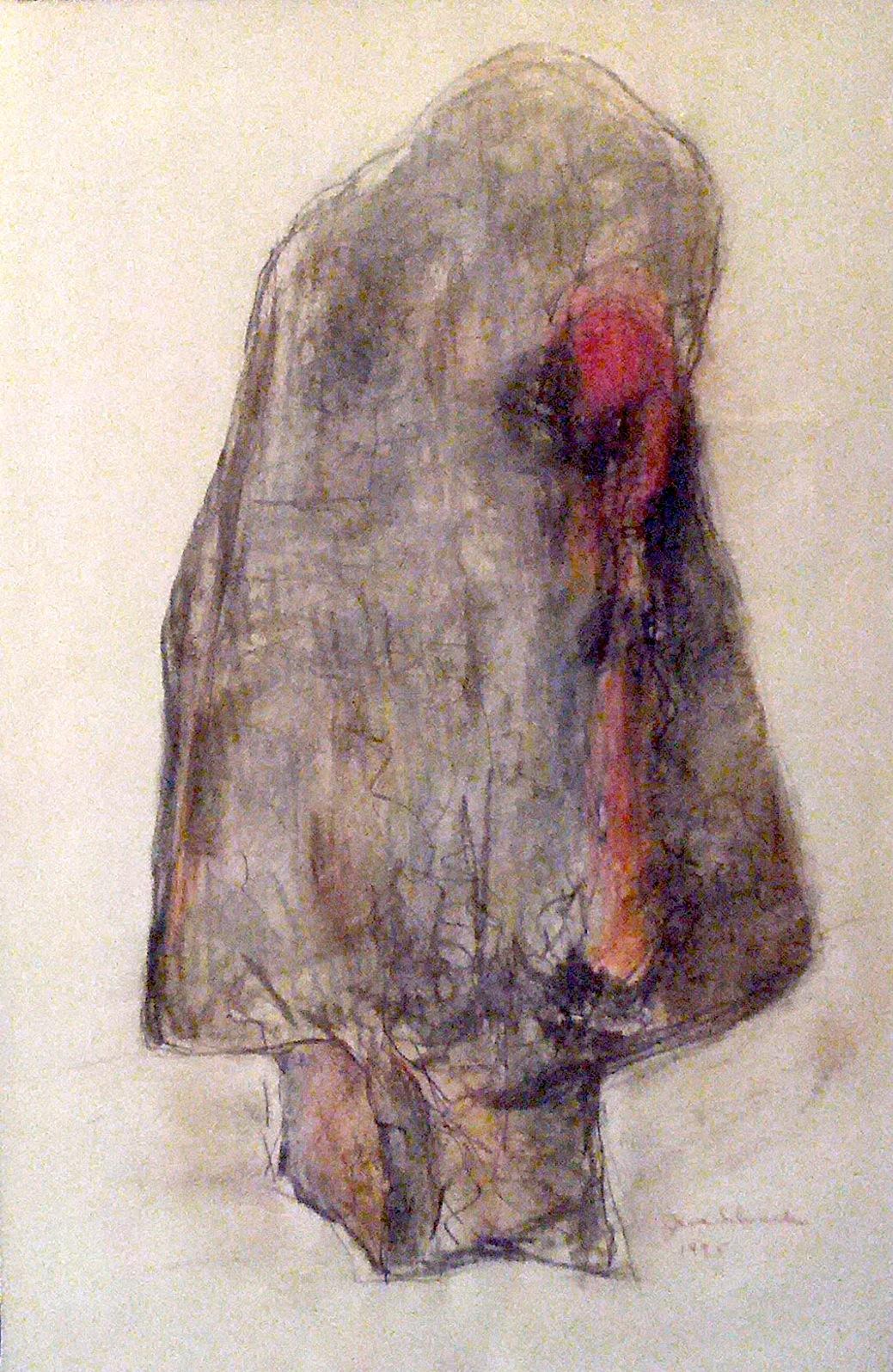 "Carmen  , 1995  graphite, chalk, charcoal on paper  25 1/4"" x 16 3/4"""