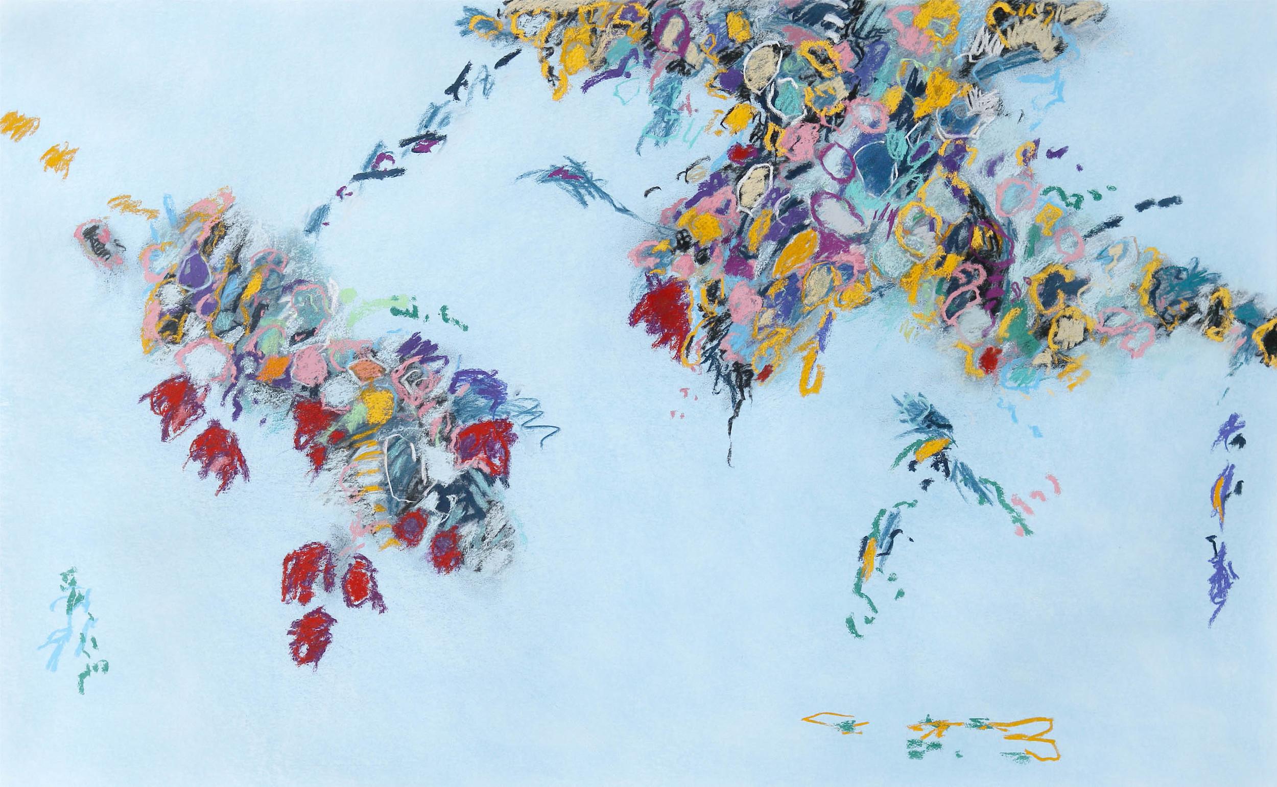 "Fredrick Nelson, ""Winter Garden,"" 2015  pastel on paper  41"" x 61"""