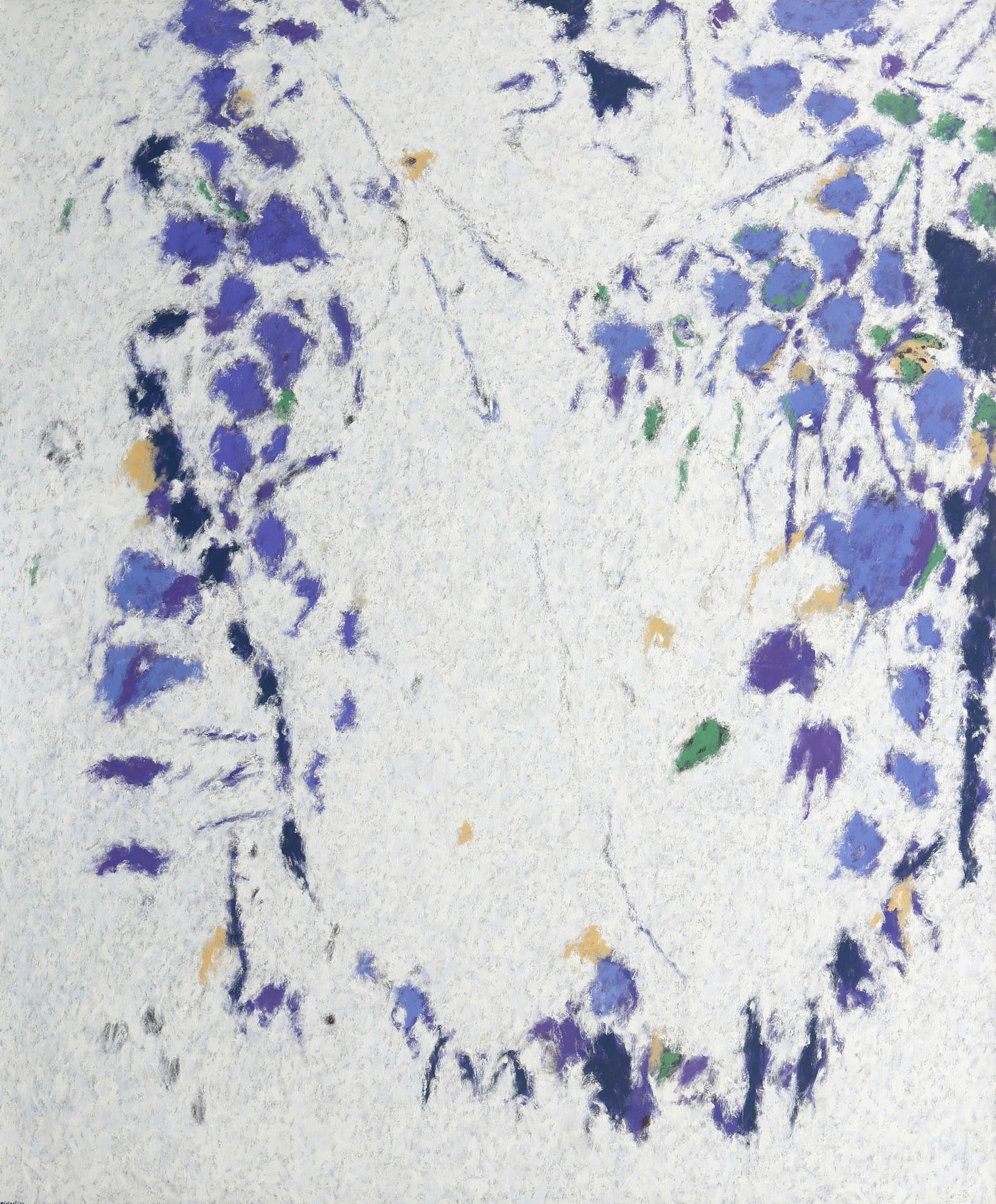 "Fredrick Nelson, ""Le Jardins De Chine 1,"" 2014  oil on canvas  62"" x 52 1/2"""
