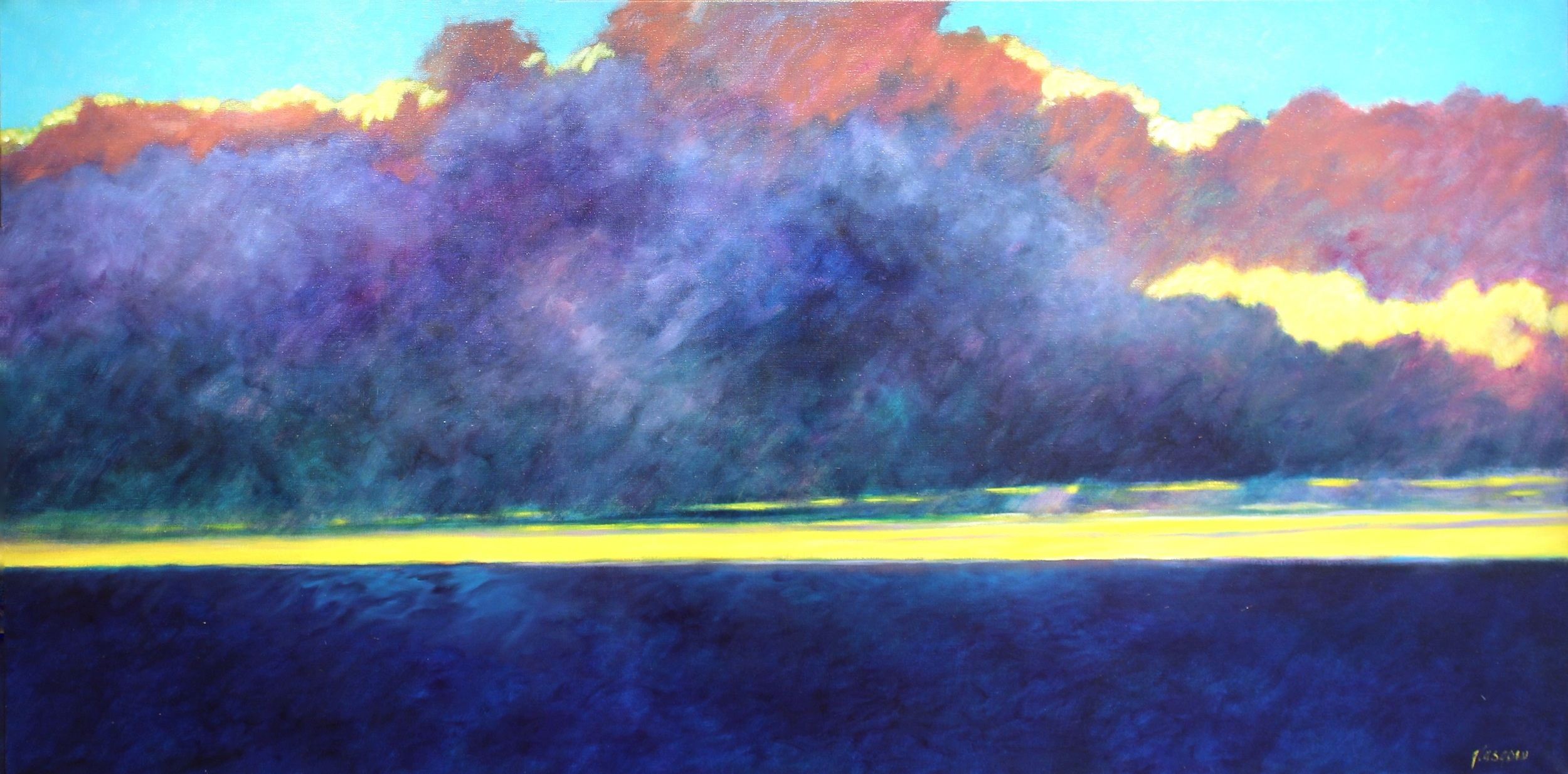 """Bahama Straits, Sunrise,"" 2010  oil on linen  37 1/4"" x 73 1/4"""