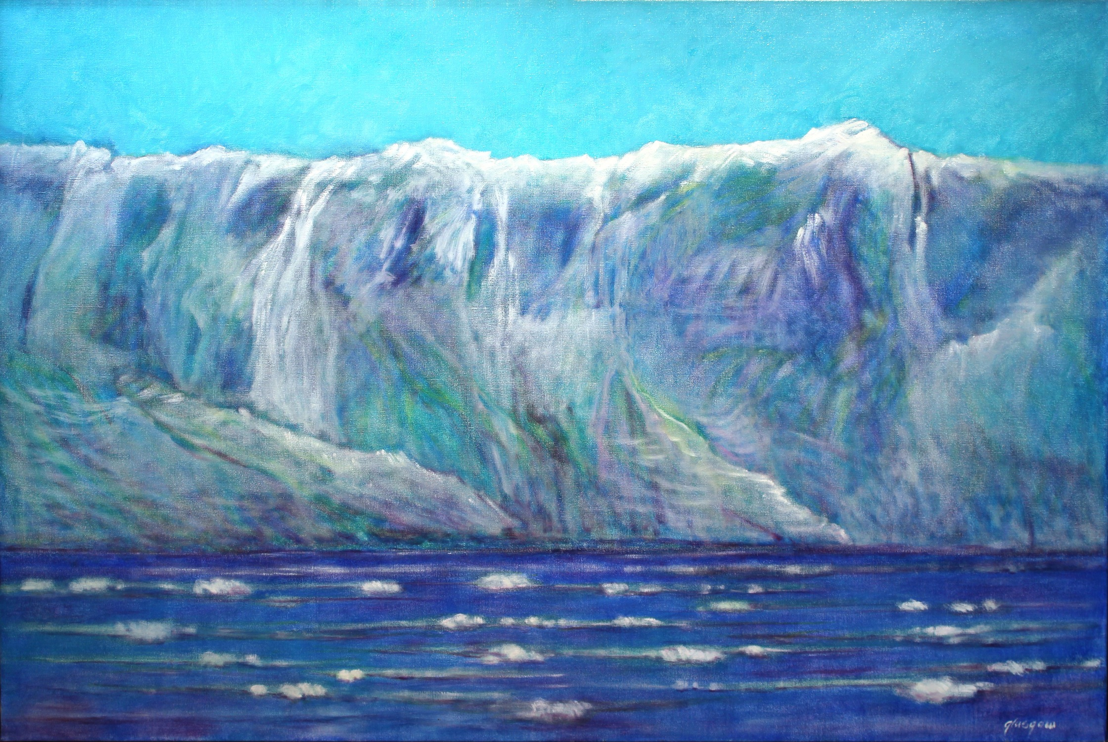 """Hubbard Glacier I,"" 2008  oil on linen  41 1/4"" x 61 1/2"""