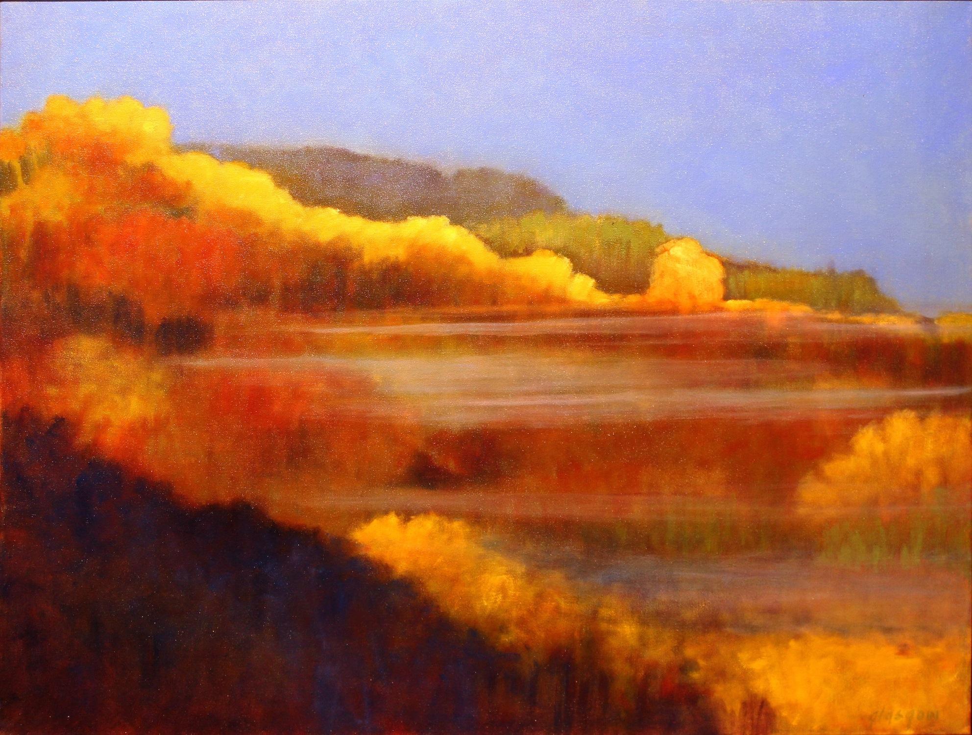 """""""Mountain Mist,"""" 2016  oil on canvas  31"""" x 41"""""""