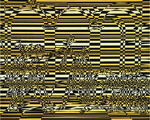 "David Klamen  (BIO)   ""Untitled,"" 2001  aquatint with surface roll 22/30   25 7/8"" x 29 3/8"""