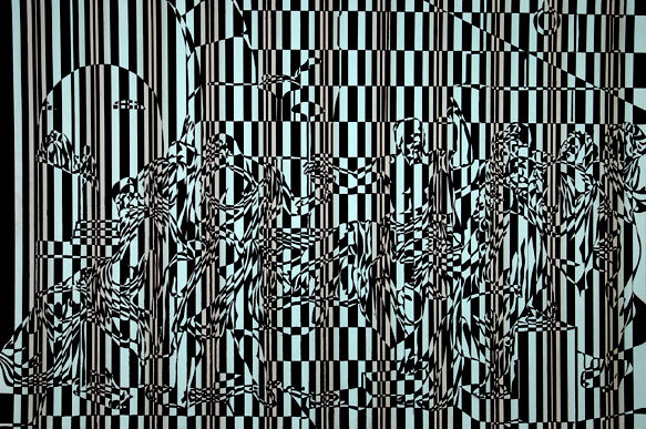 "David Klamen  (BIO)   ""Untitled,"" 2001  aquatint with surface roll 22/30  25 7/8"" x 33 7/8"""