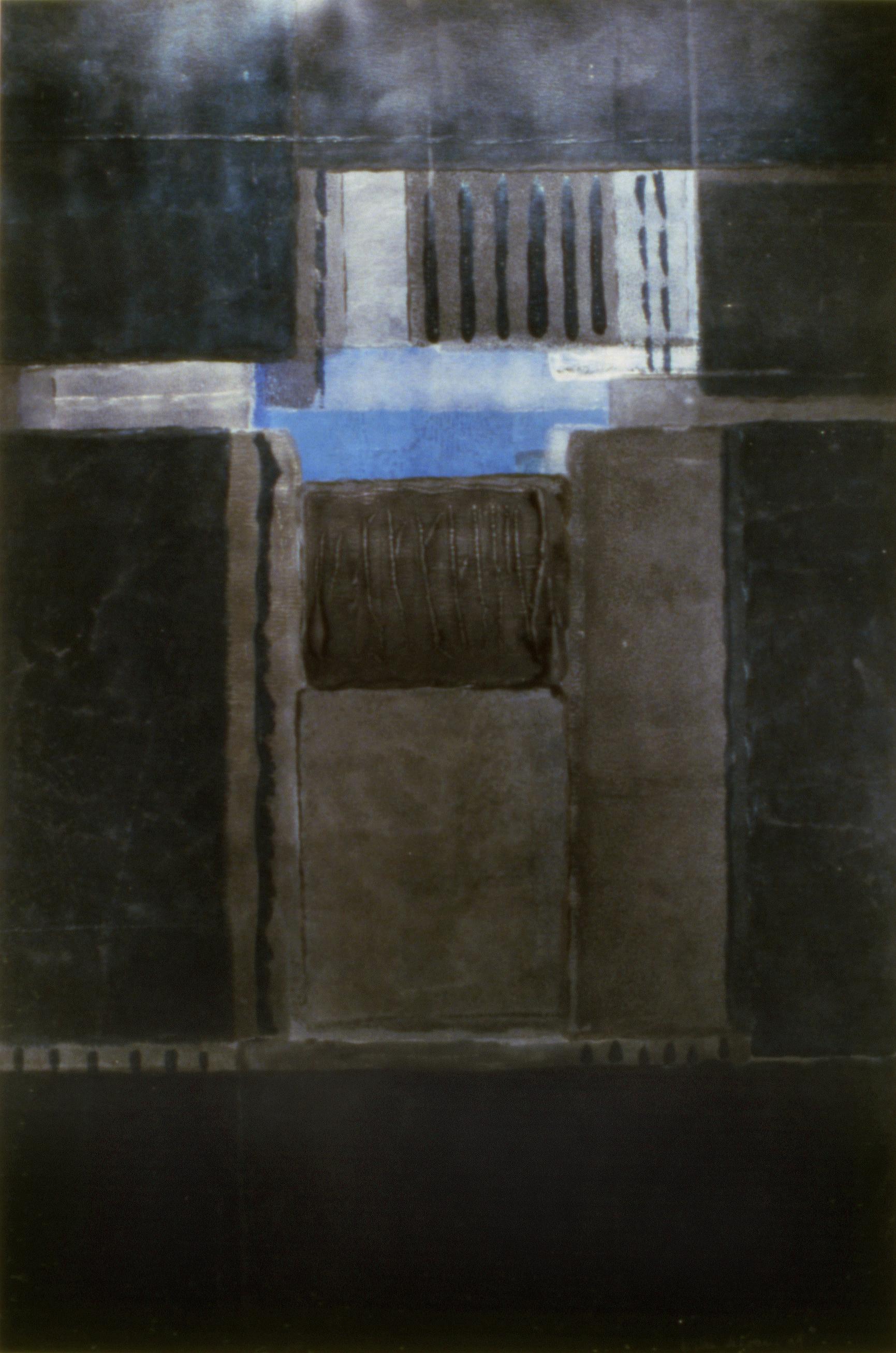 "Willem de Looper  (BIO)   ""Untitled,"" 1999  acrylic on paper  67 7/8"" x 47 1/4"""