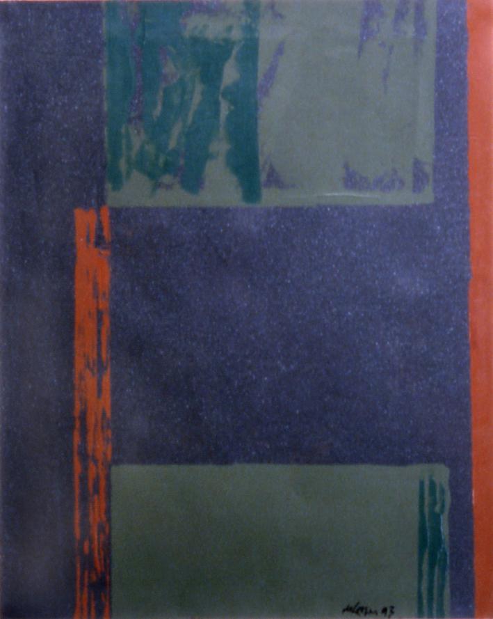 "Willem de Looper  (BIO)   ""Untitled,"" 1993  acrylic on paper  28"" x 23"""