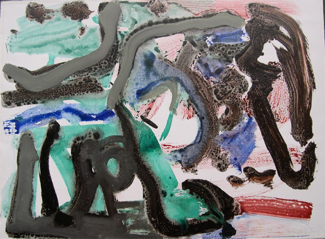 "Michael Marshall     (BIO)   ""Untitled,"" 2001   mixed media on paper  26 1/4"" x 33 7/8"""