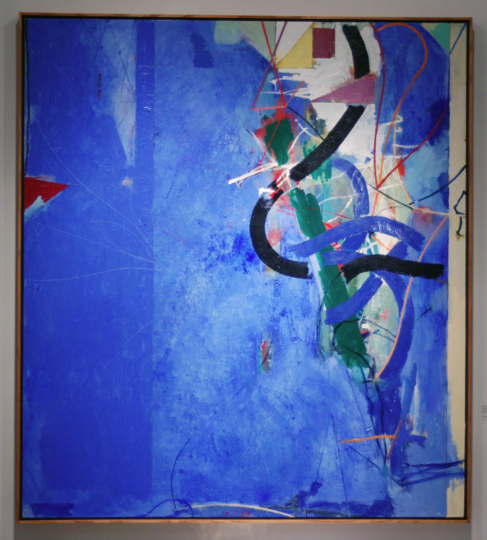 "Doug Salveson  (BIO)   ""Sawmill Creek,"" 1998  oil on canvas  55 1/4"" x 49 3/8"""