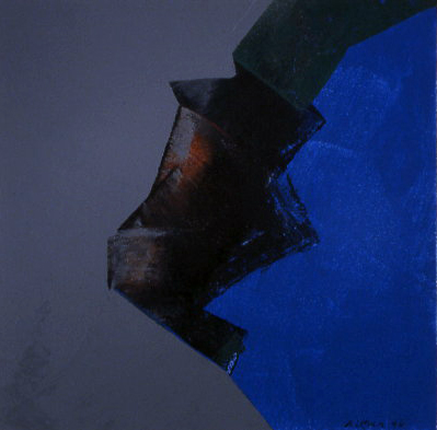 "Willem de Looper  (BIO)   ""Color Music #9,"" 1996  acrylic on panel  19"" x 19"""