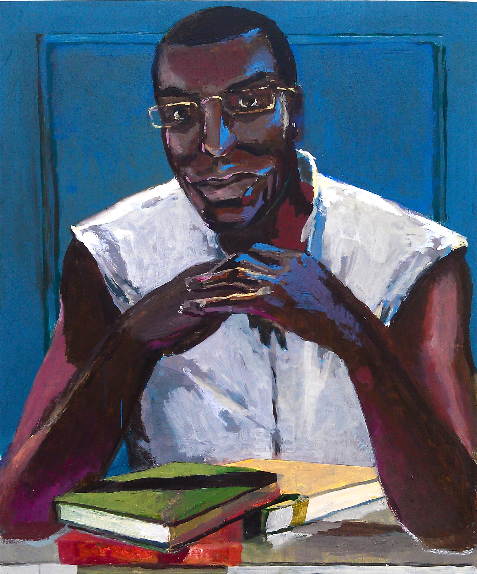 "Peter Charlap    (BIO)   ""Reginald Blanton,"" 2013  oil on panel  24"" x 20"""