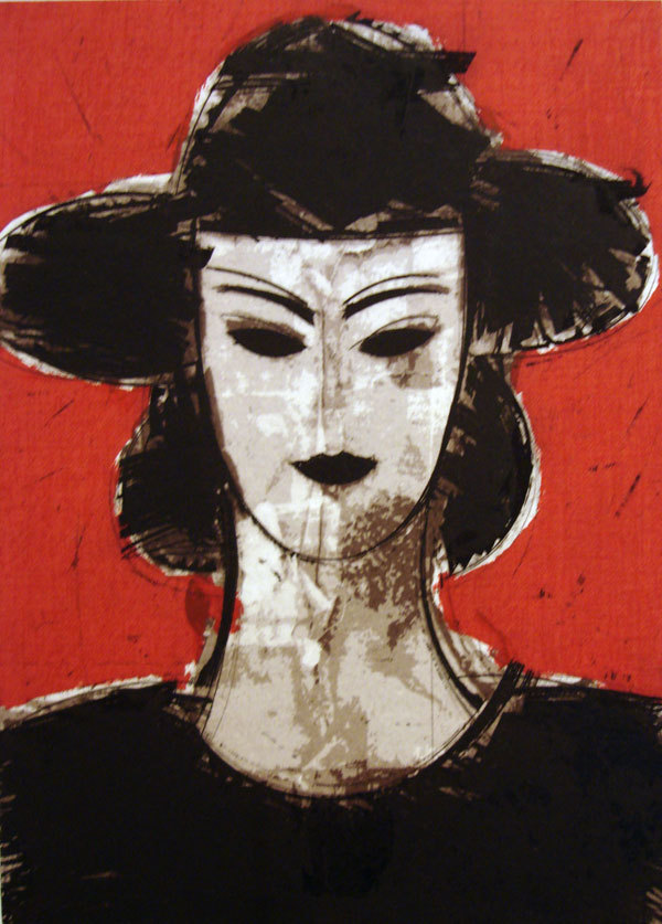 """Lillie IV  , 2007  color etching and silkscreen, 10/50  24 1/2"""" x 14 7/8"""""""