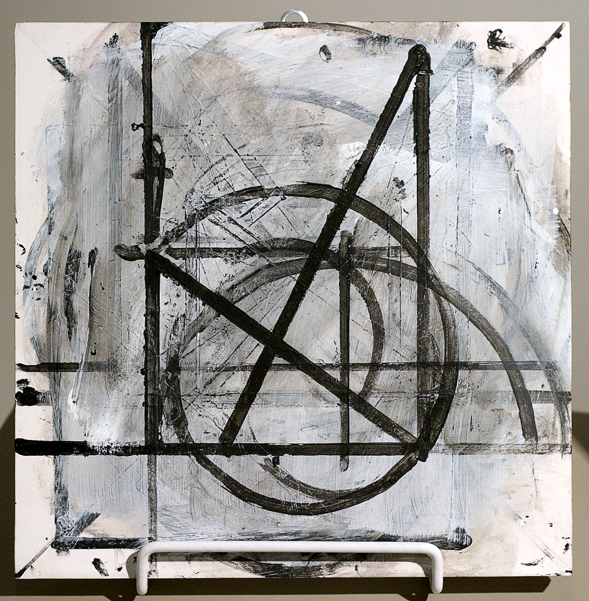 "Annette Morriss  (BIO) ,   Untitled 5  , 1997, acrylic on paper/wood, 10"" x 10"""