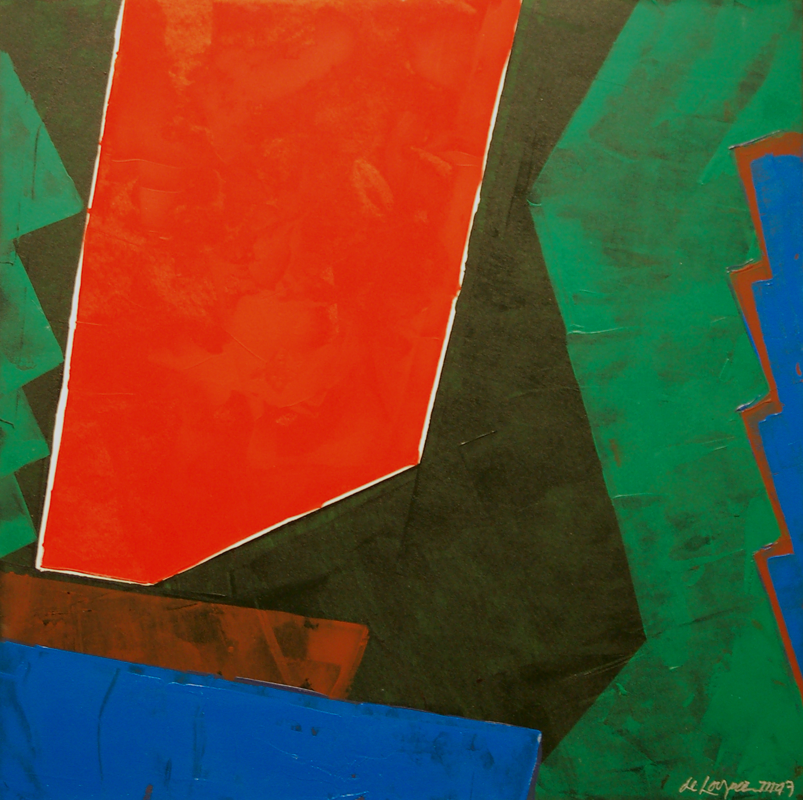 "Willem de Looper    (BIO) ,   Color Music #8  , 1996, acrylic on panel, 19"" x 19"""