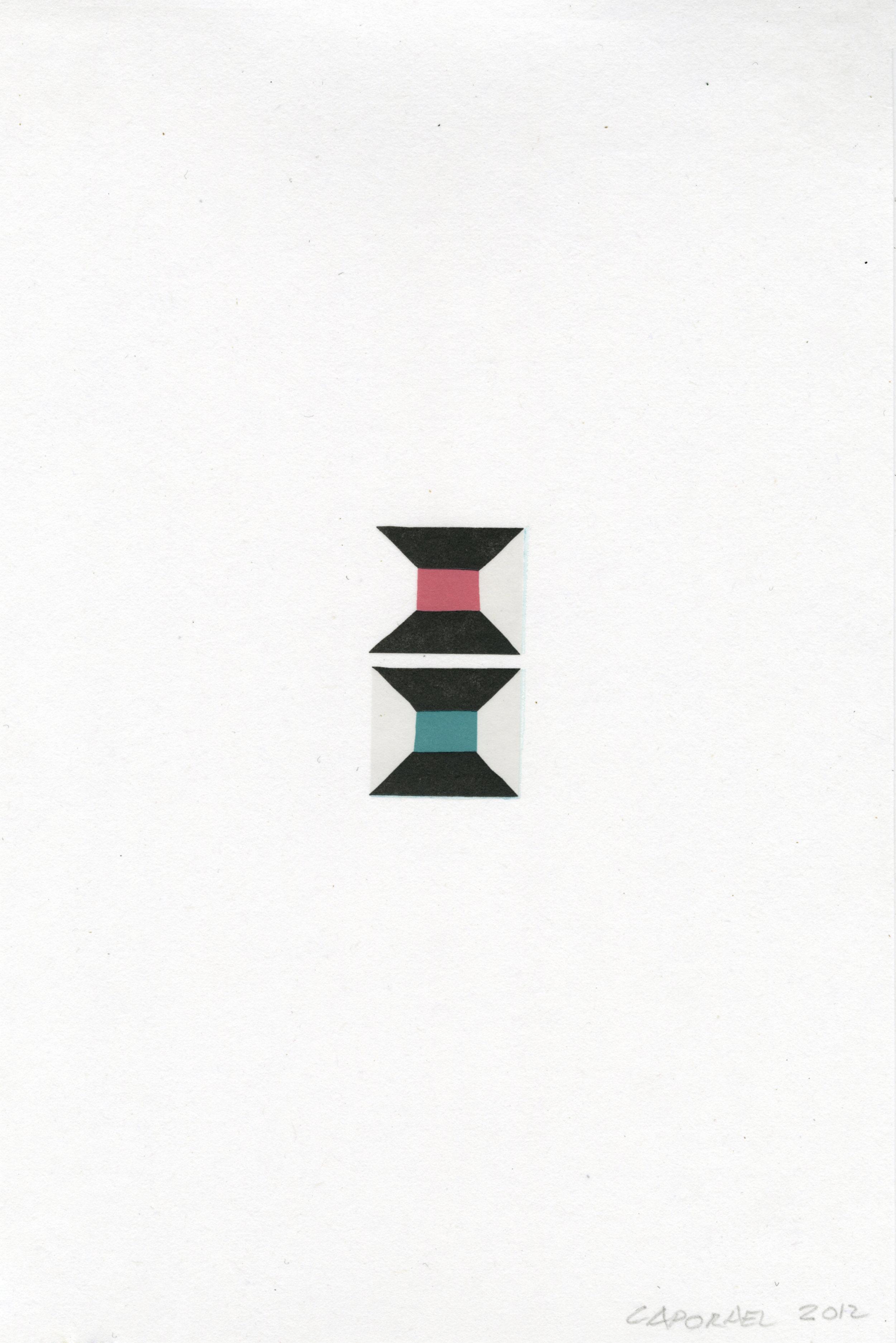 """Suzanne Caporael  (  BIO)   """"Beat,"""" 2013  relief 8/12  17 5/8"""" x 13"""""""