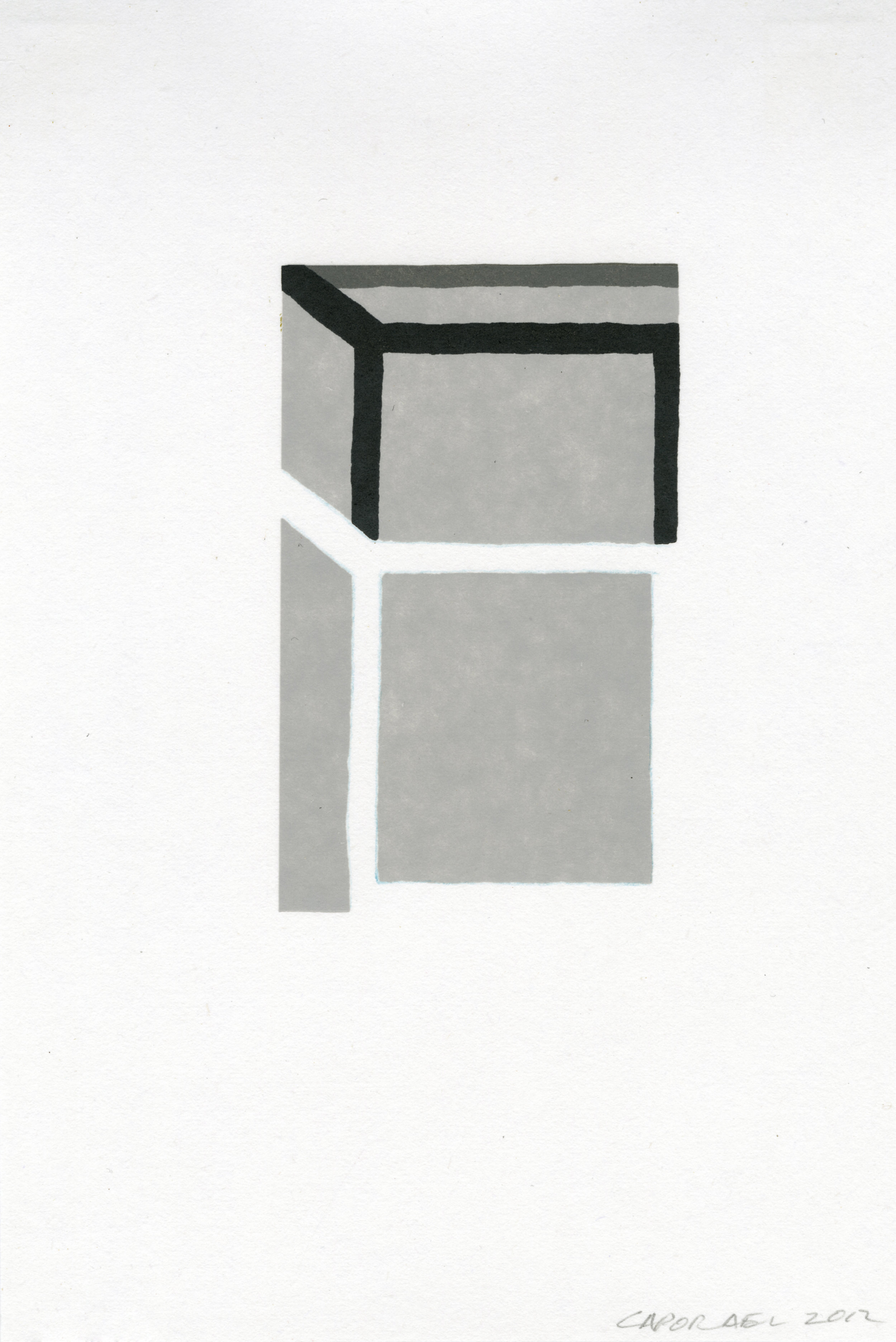 "Suzanne Caporael  (  BIO)   ""Dynamics,"" 2013  relief 8/12  17 5/8"" x 13"""