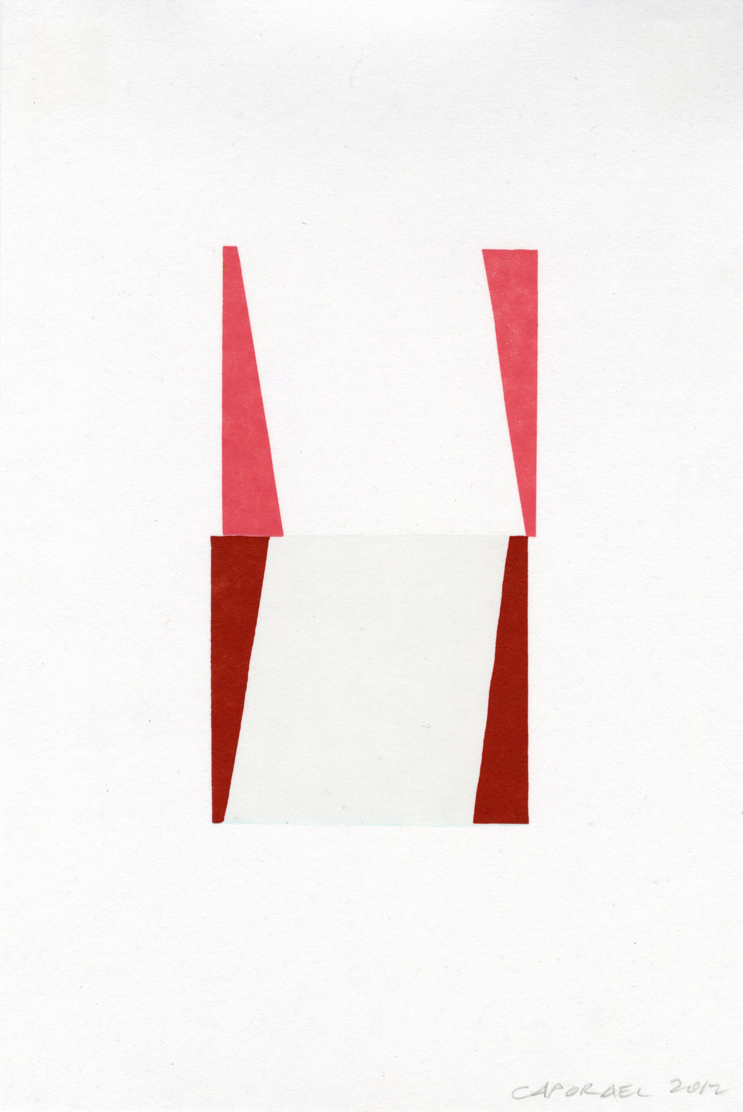 """Suzanne Caporael  (  BIO)   """"Rhythm,"""" 2013  relief 8/12  17 5/8"""" x 13"""""""