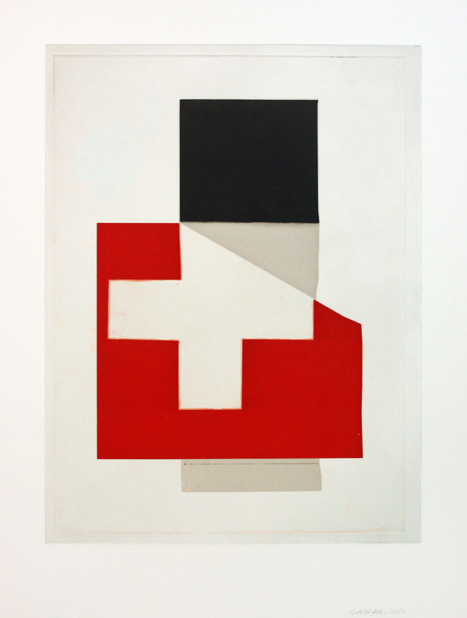 "Suzanne Caporael  (  BIO)    ""New Ulm, Minnesota,"" 2013  etching 5/30  34 1/8"" x 26 7/8"""