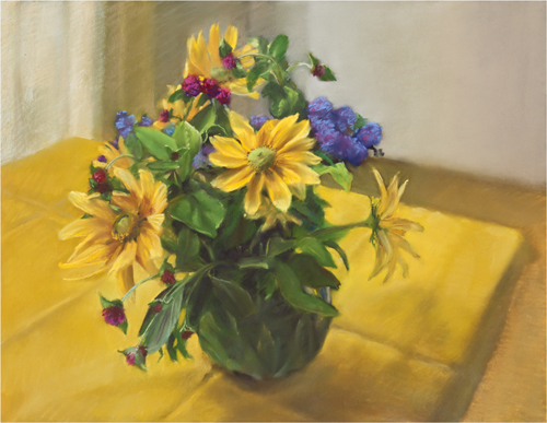 "Mary Joan Waid    (BIO) ,   New York Garden  , 2010, pastel on paper, 29 1/2"" x 35 1/2"""