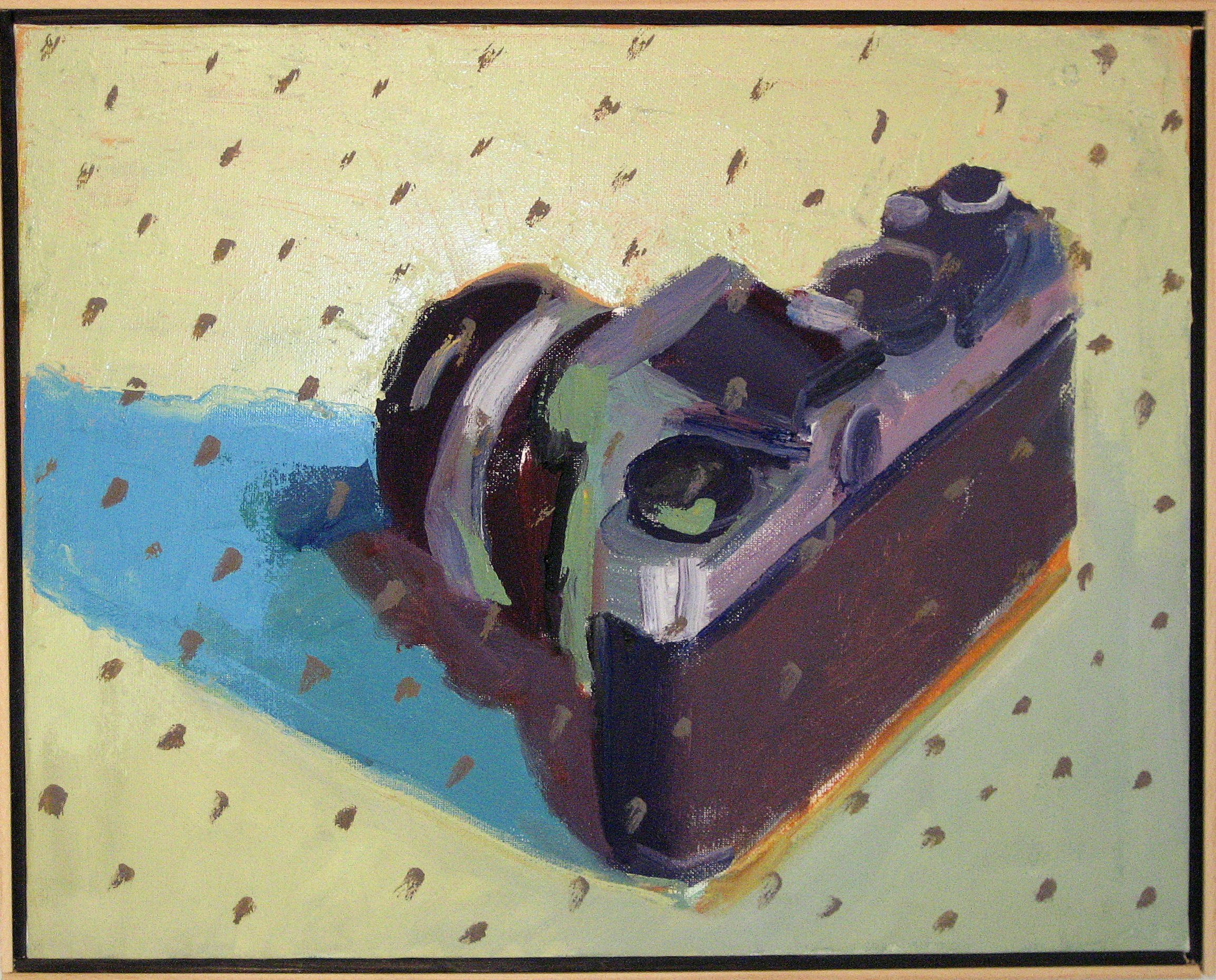 "Peter Charlap    (BIO)  ,    Polka Dots  , 2004, oil on canvas, 17"" x 21"""