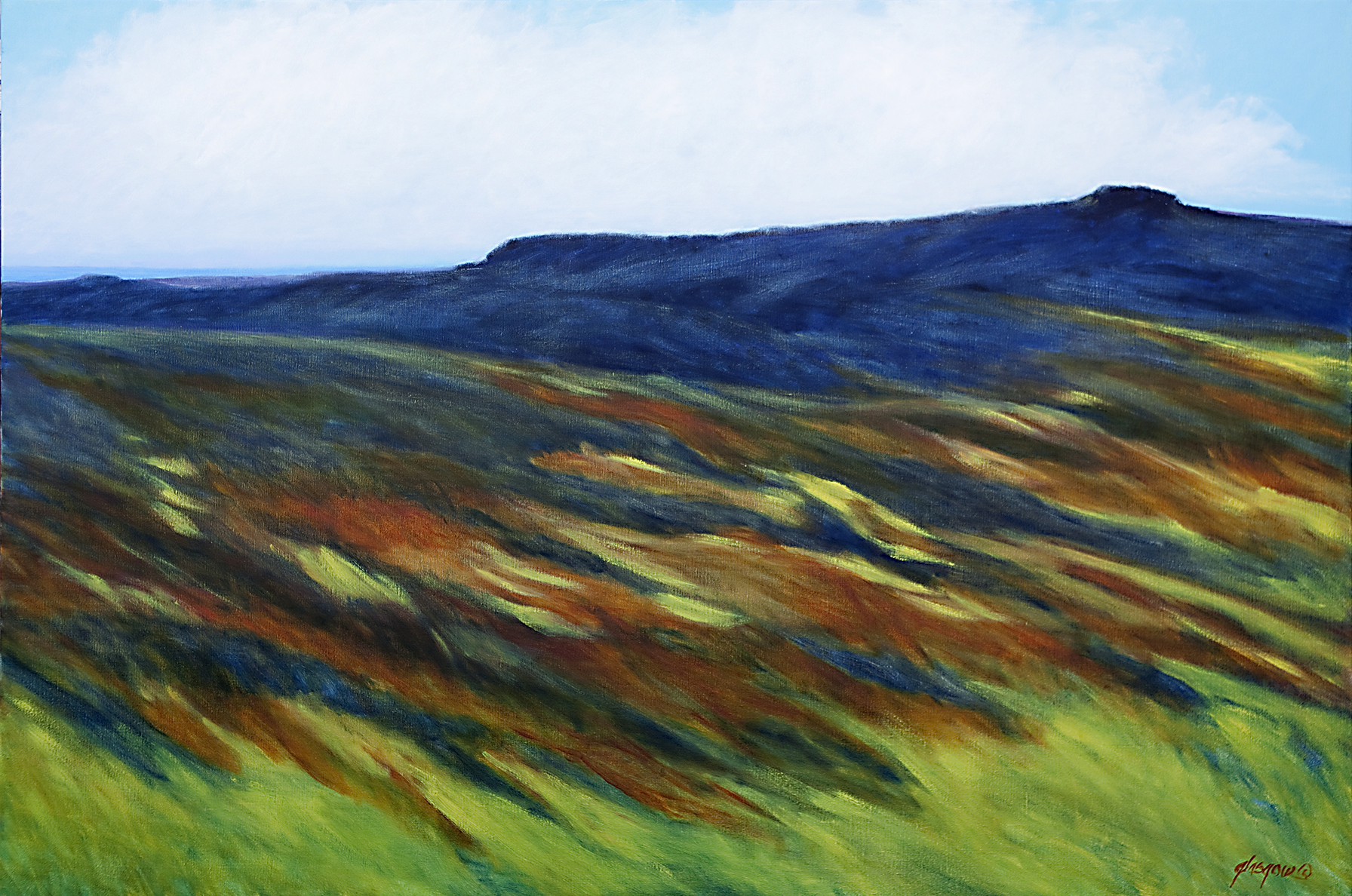 "Ellen Glasgow  (BIO) ,   Grand Mesa  , 2012, oil on linen, 41 1/8"" x 61 1/8"""