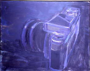 "Peter Charlap    (BIO)  ,    Nocturne,   2003, oil on canvas, 17"" x 21"""